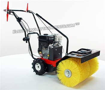 WSP24 Walk Behind Sweeper, 6.5 HP Briggs Vanguard Manual Angle Sweepster Broom