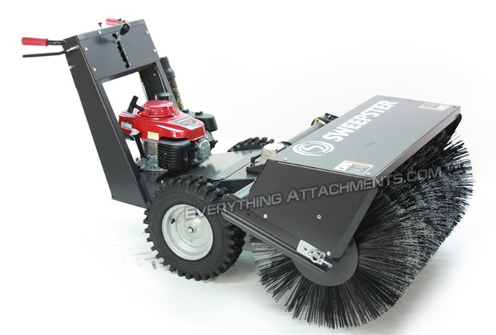 Wsp36 Walk Behind Sweeper 4 3 Hp Honda Manual Angle