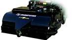 "Sweepster Skid Steer, Skidsteer, High Dump Bucket Broom with Vacuum Dust Abatement, 72"", Poly or Poly/Wire Brush"
