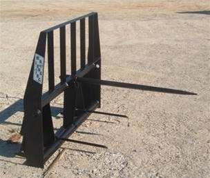 W R  Long Bale Spear - Fork lift - Pallet Fork Attachment