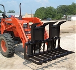W R Long Open Bottom Grapple 1 Full size Tractor Loader