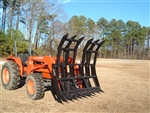 W R  Long Root Rake Brush Grapple for compact tractors up to full size