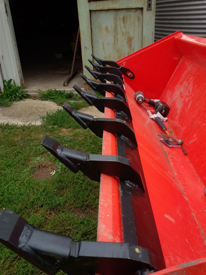 Tractor Loader Teeth : W r long tooth bar for tractors and skid steers add a
