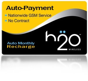 H2O Wireless Monthly Auto-Payment Recharge