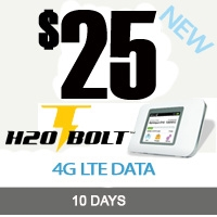 H2O Wireless $25 BOLT 4GB Plan: 10 Days