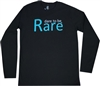 Youth crew neck long sleeve T Shirt with teal logo