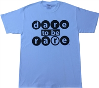 Crew neck with dare to be rare bubble