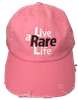 Pink Hat with Live a Rare Life logo