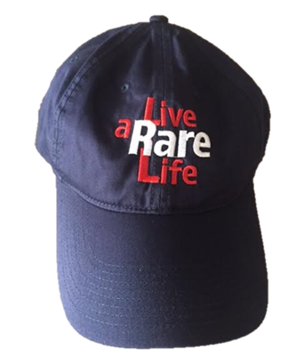 Blue Hat with Live a Rare Life logo