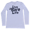 Adult Long Sleeve V Neck T Shirt with Live a Rare Life