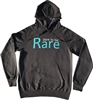 Grey sweatshirt with teal dare to be Rare logo