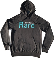 Grey sweatshirt w teal dare to be Rare