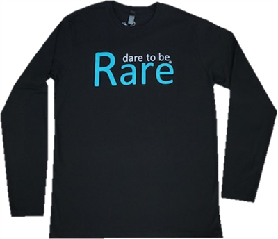 LONG SLEEVE CREW NECK WITH TEAL DARE TO BE RARE LOGO