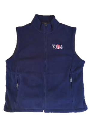 Navy Fleece Vest with Dare to be Rare Logo