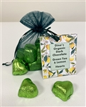 Organic Green Tea-Lemon Chocolate Hearts