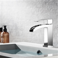 Vinnova Liberty Single-Handle Basin Bathroom Faucet Polished Chrome Finish