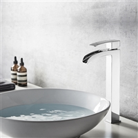 Vinnova Belair Single Lever Vessel Bathroom Faucet Polished Chrome Finish