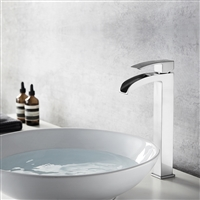 Vinnova Belair Single Lever Vessel Bathroom Faucet Satin Nickel Finish