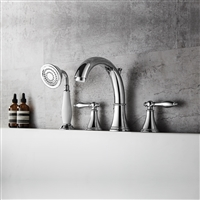 Vinnova Julius Roman Tub Faucet with Hand-Held Shower