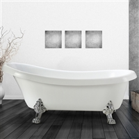 Vinnova Clermont 63-inch x 28-inch Soaking Bathtub