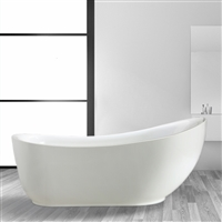 Vinnova Everlie 71-inch x 35-inch Soaking Bathtub