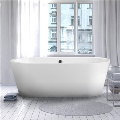 "Vinnova Melania 68"" x 32"" Soaking Bathtub"