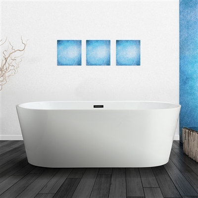 "Vinnova Lumina 59"" x 29.5"" Soaking Bathtub"