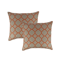 Austin Horn Classics Sunbrella Accord Koi 18-inch Outdoor Pillow (set of 2)