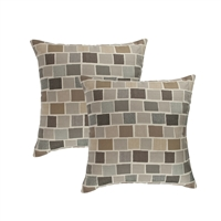 Austin Horn Classics Sunbrella Blox Slate 18-inch Outdoor Pillow (set of 2)