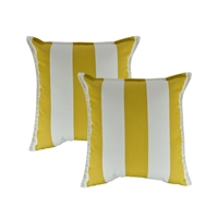 Austin Horn Classics Sunbrella Cabana Citron 20-inch Outdoor Pillow (set of 2)
