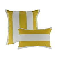 Austin Horn Classics Sunbrella Cabana Citron Combo Outdoor Pillow (set of 2)