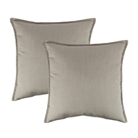 Austin Horn Classics Sunbrella Canvas Flax 20-inch Outdoor Pillow (set of 2)