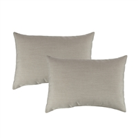 Austin Horn Classics Sunbrella Canvas Flax Boudoir Outdoor Pillow (set of 2)