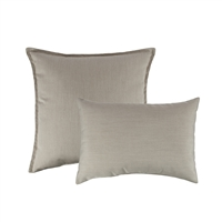 Austin Horn Classics Sunbrella Canvas Flax Combo Outdoor Pillow
