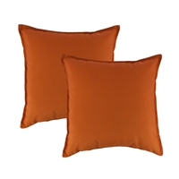 Austin Horn Classics Sunbrella Canvas Tangerine 20-inch Outdoor Pillow (set of 2)