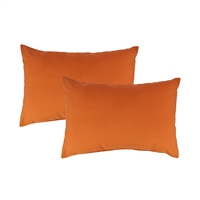 Austin Horn Classics Sunbrella Canvas Tangerine Boudoir Outdoor Pillow (set of 2)