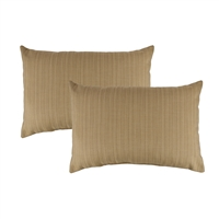 Austin Horn Classics Sunbrella Dupione Bamboo Boudoir Outdoor Pillow (set of 2)