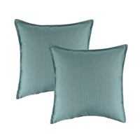 Austin Horn Classics Sunbrella Dupione Celeste 20-inch Outdoor Pillow (set of 2)