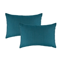 Austin Horn Classics Sunbrella Dupione Deepsea Boudoir Outdoor Pillow (set of 2)