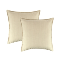 Austin Horn Classics Sunbrella Dupione Pearl 20-inch Outdoor Pillow (set of 2)