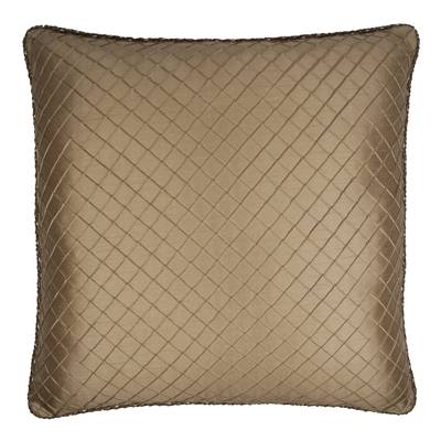 Austin Horn Classics Botticelli Brown 26-inch Diamond to Stripe Euro Sham