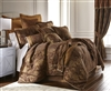 Sherry Kline China Art Brown 3-piece Luxury Duvet Set