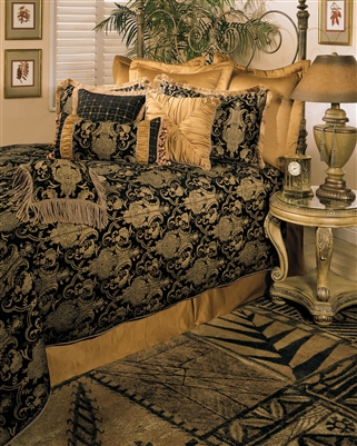 Sherry Kline China Art Black 6-piece Comforter Set