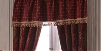 Sherry Kline China Art Red Window Valance