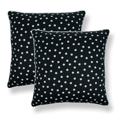 Sherry Kline Clementine Black 20-inch Decorative Throw Pillow (Set of 2)