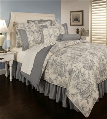 Sherry Kline Country Toile Blue 4-piece Comforter Set