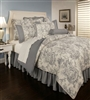 Sherry Kline Country Toile Blue 3-piece Duvet Set