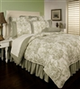 Sherry Kline Country Toile Sage 6-piece Comforter Set