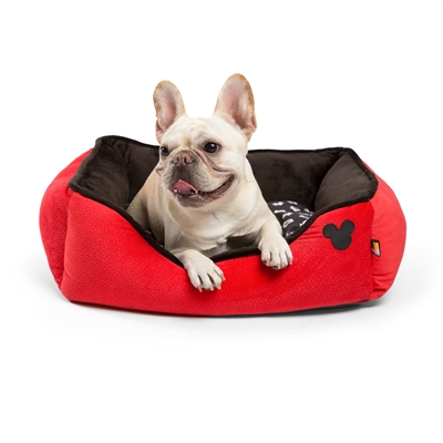 "Disney® Mickey Mouse Rectangular Cuddler with Toy Bone, RED, 24""x22"""