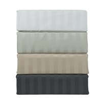 Mohan Cotton Dobby 2cm 4-piece 300TC Queen Sheet Set